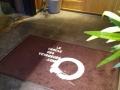 tapis personnalisable avec bord extérieur en caoutchouc