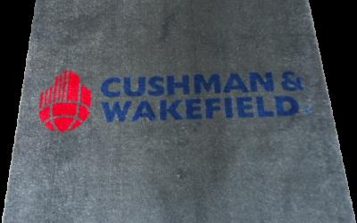 Tapis logo pour la société « Cushman & Wakefield », à Bruxelles
