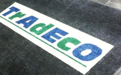 Tapis d'entrée personnalisé (professionnel) pour la société Tradeco