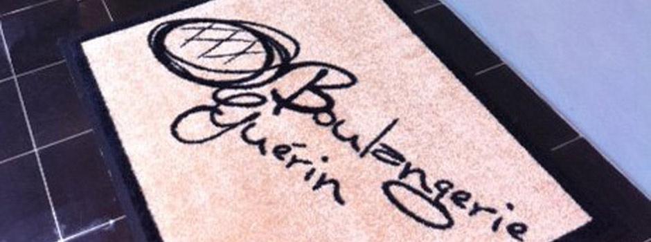 Tapis personnalisé pour la boulangerie Guérin