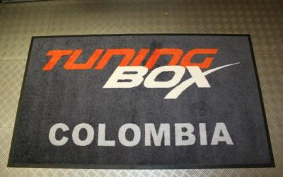 Tapis d'entrée personnalisé « Made in Belgium » pour la Colombie