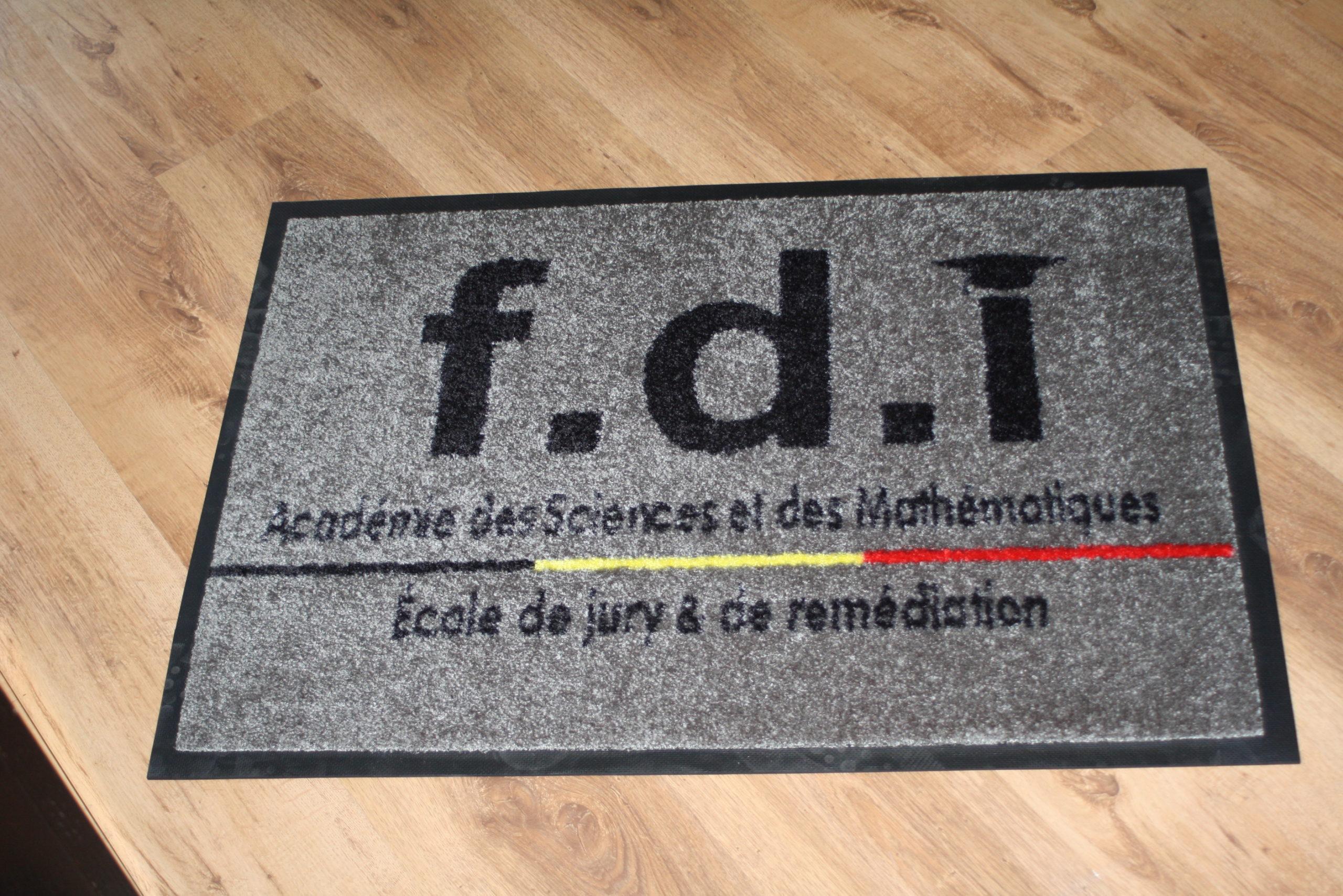 Tapis personnalisé FDI Bruxelles